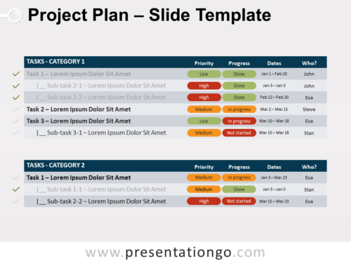 Free Project Plan for PowerPoint