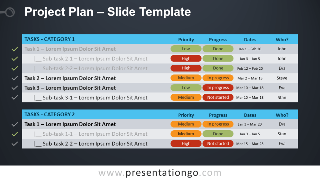 Free Project Plan Template for PowerPoint and Google Slides