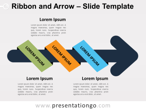 Free Ribbon Arrow for PowerPoint