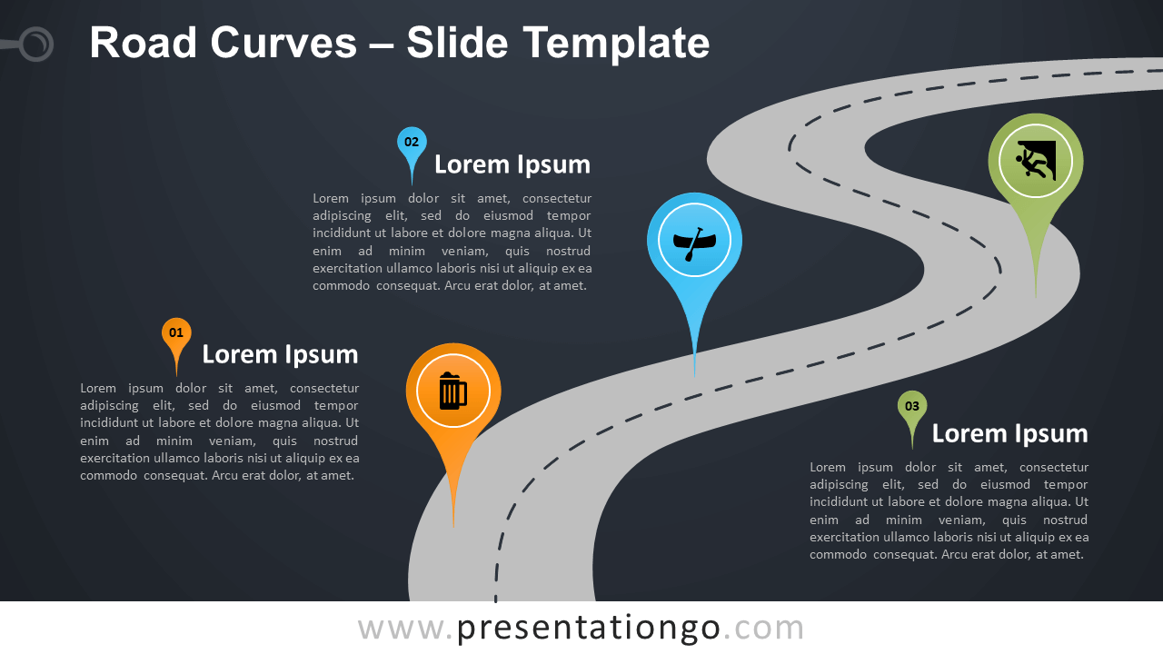Free Road Curves Infographic for PowerPoint and Google Slides