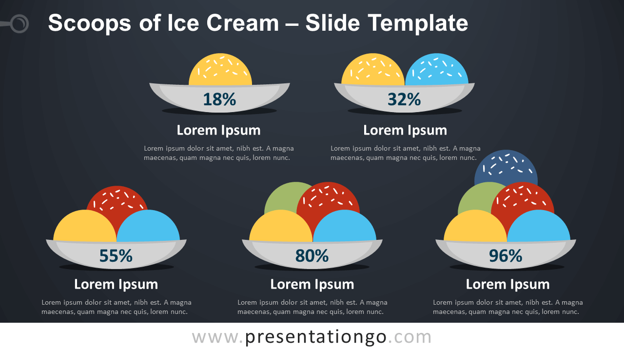 Free Scoops of Ice Cream Infographic for PowerPoint and Google Slides