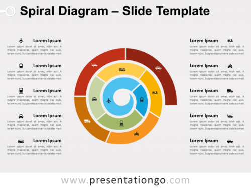 Free Spiral Diagram for PowerPoint