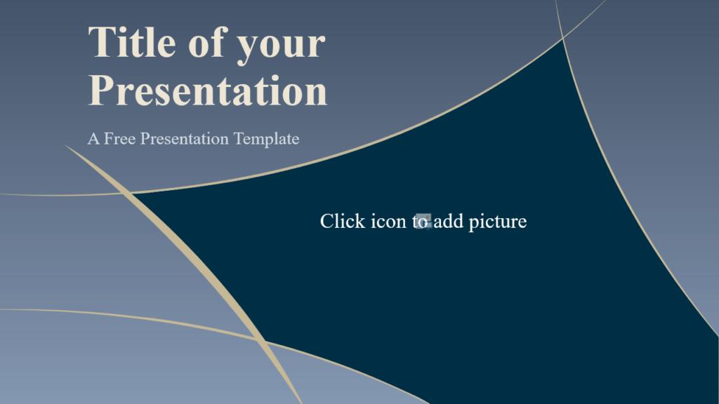 Free Crescents Template for Google Slides - Cover Slide