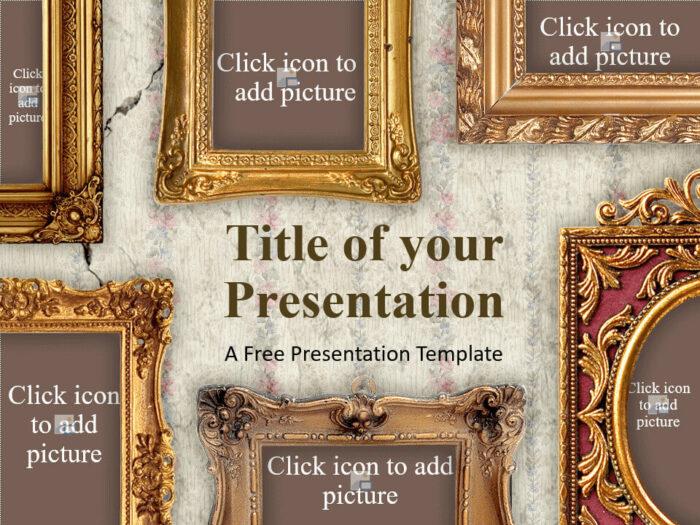Free Renaissance Frames Template for Google Slides - Cover Slide