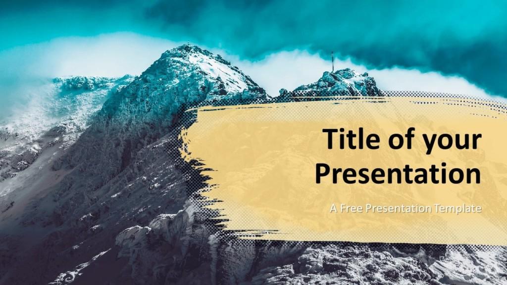 Free Retro Pop Mountains Template for Google Slides - Cover Slide