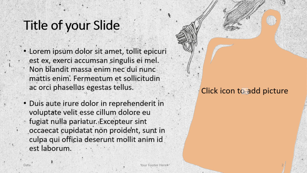 Free Cooking Template for Google Slides – Title and Content Slide (Variant 1)