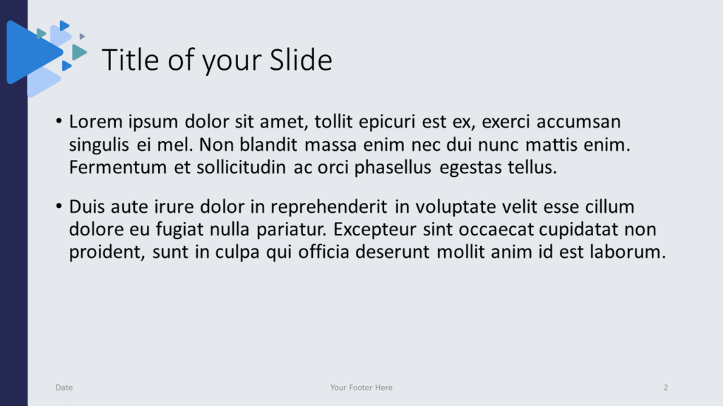Free Triangles Template for Google Slides – Title and Content Slide (Variant 1)