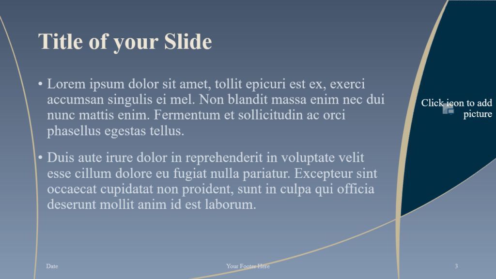Free Crescents Template for Google Slides – Title and Content Slide (Variant 2)