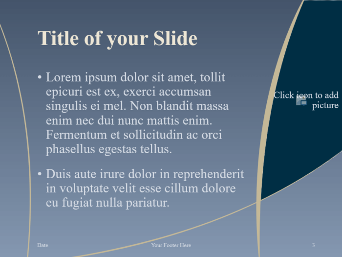 Free Crescents Template for PowerPoint – Title and Content (Variant 2)