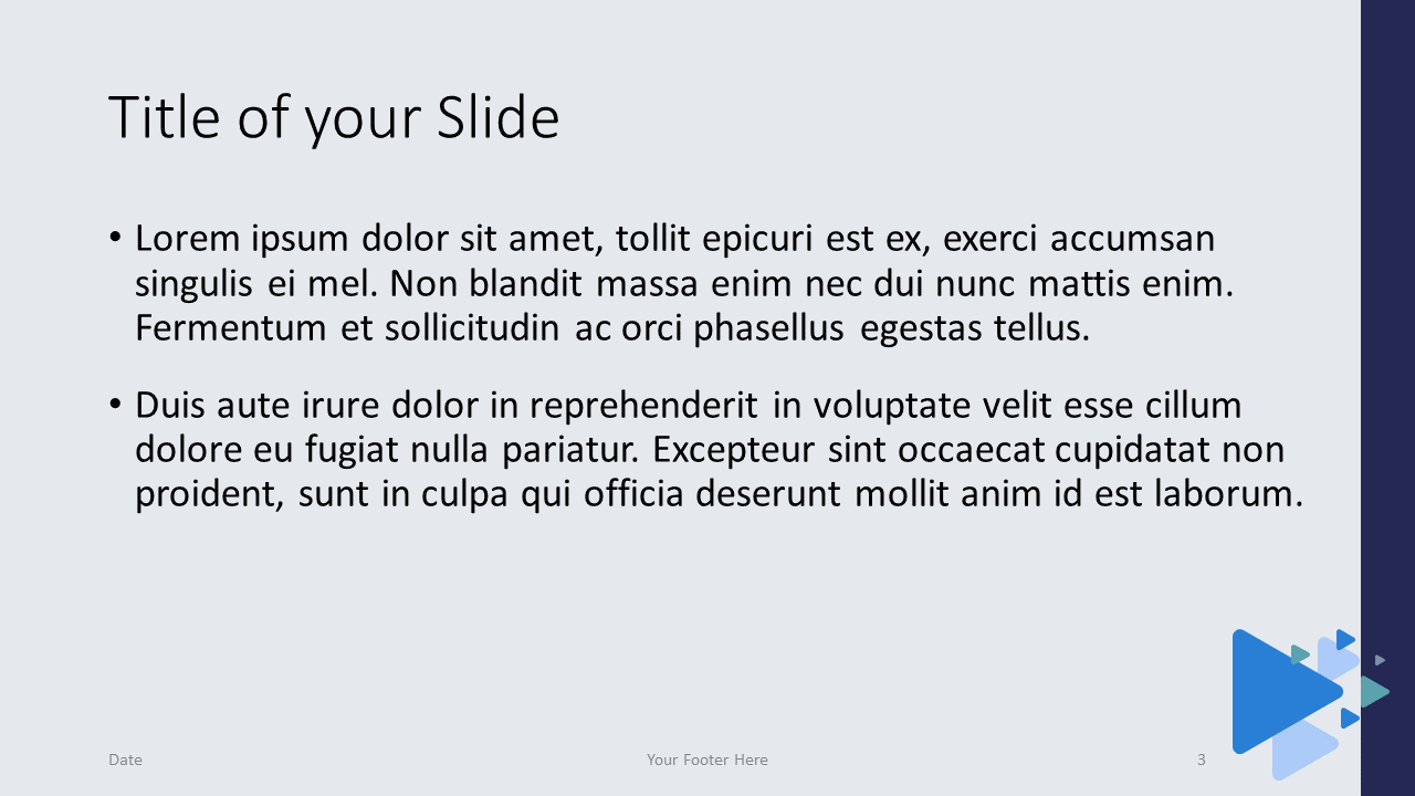 Free Triangles Template for Google Slides – Title and Content Slide (Variant 2)