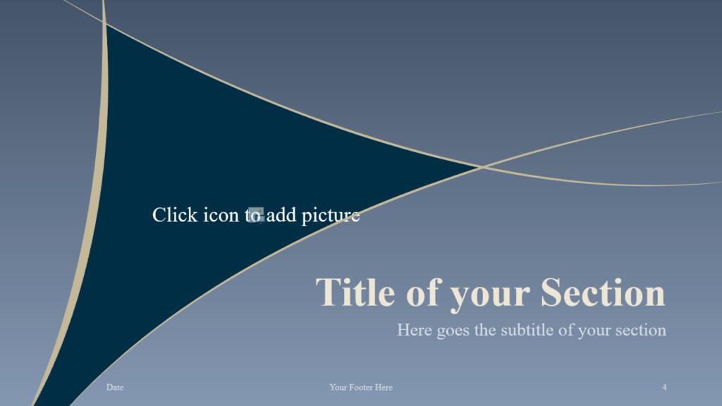 Free Crescents Template for Google Slides – Section Slide (Variant 1)