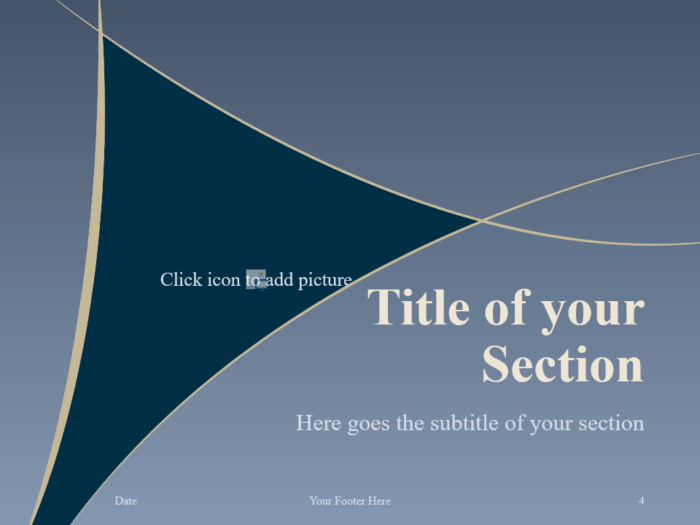 Free Crescents Template for PowerPoint – Section Slide (Variant 1)