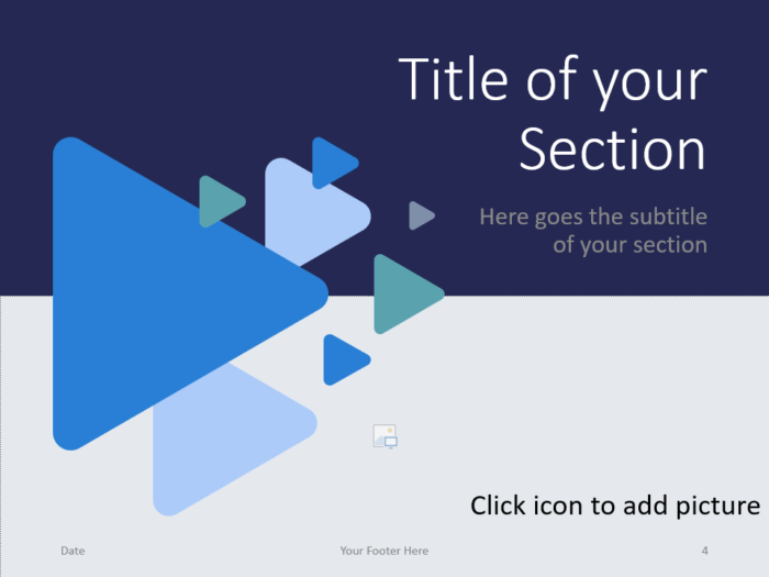 Free Triangles Template for PowerPoint – Section Slide (Variant 1)