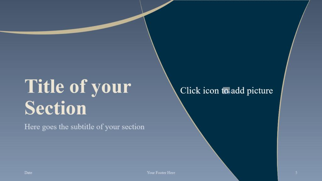 Free Crescents Template for Google Slides – Section Slide (Variant 2)
