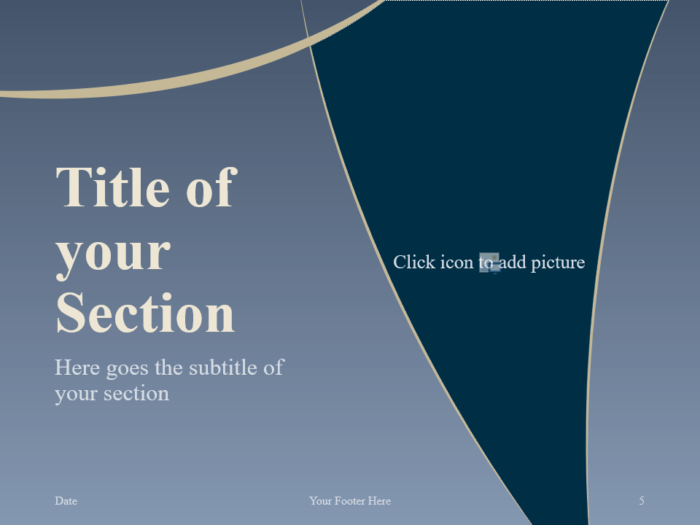 Free Crescents Template for PowerPoint – Section Slide (Variant 2)
