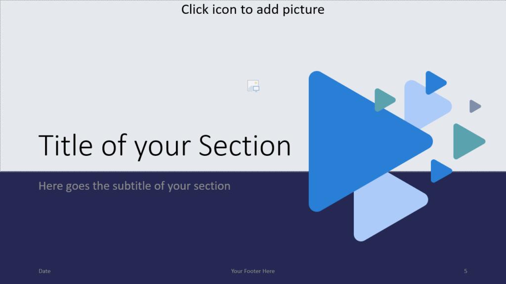 Free Triangles Template for Google Slides – Section Slide (Variant 2)