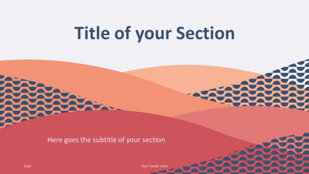 Free Tuscany Template for Google Slides – Section Slide (Variant 2)