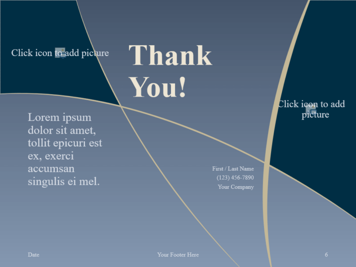 Free Crescents Template for PowerPoint - Closing / Thank you