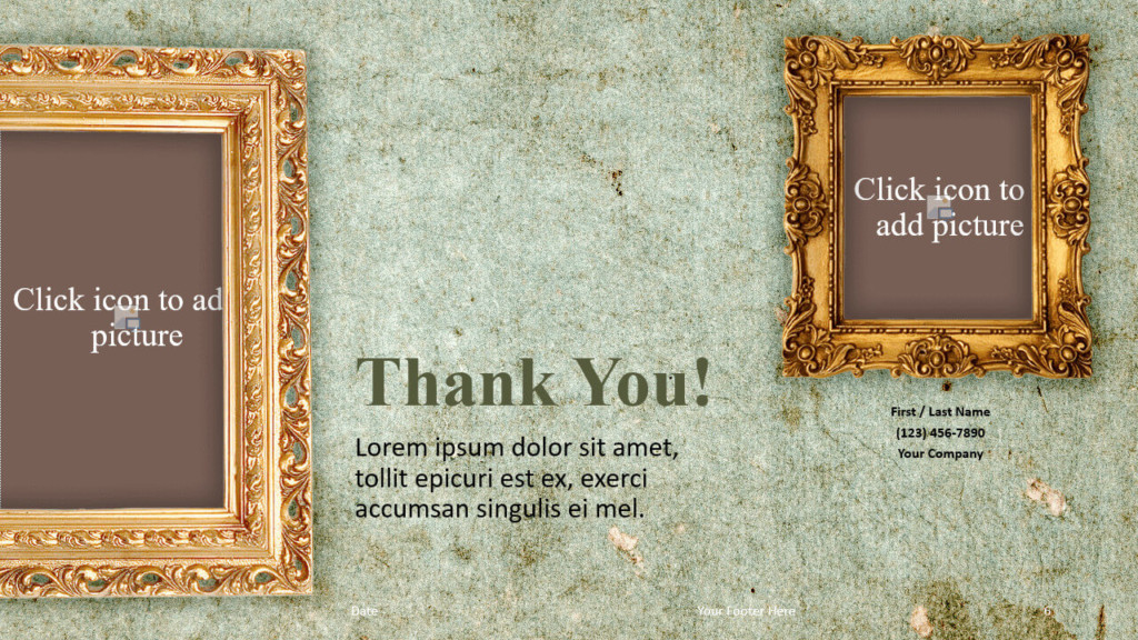 Free Renaissance Frames Template for Google Slides - Closing / Thank you