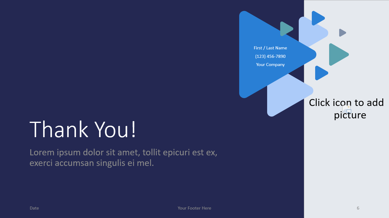 Free Triangles Template for Google Slides - Closing / Thank you