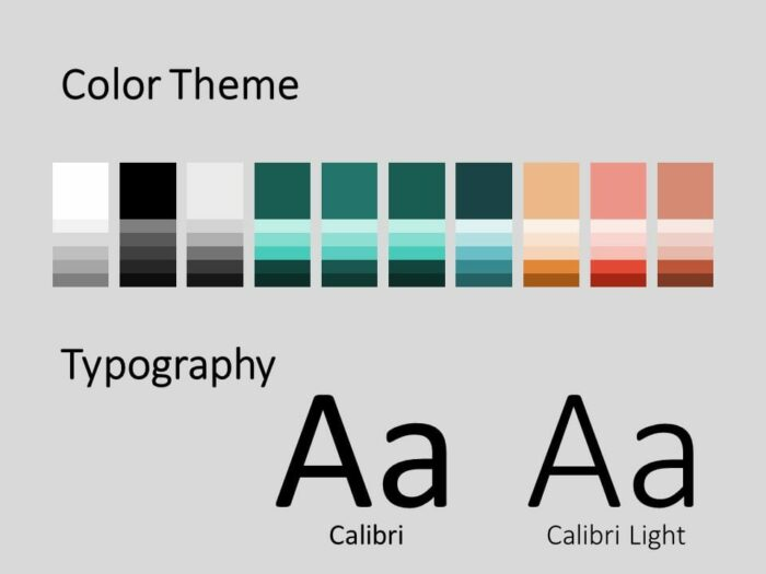 Free Cooking Template for PowerPoint – Colors and Fonts