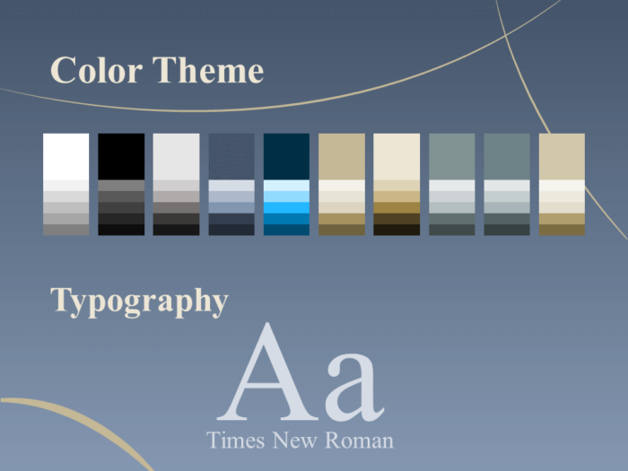 Free Crescents Template for PowerPoint – Colors and Fonts