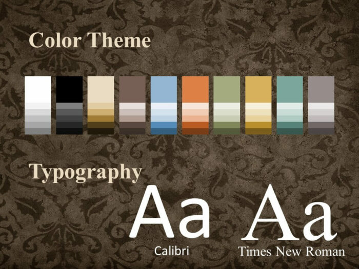 Free Renaissance Frames Template for PowerPoint – Colors and Fonts