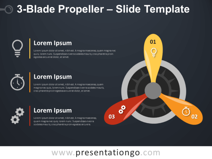 Free 3-Blade Propeller Infographic for PowerPoint