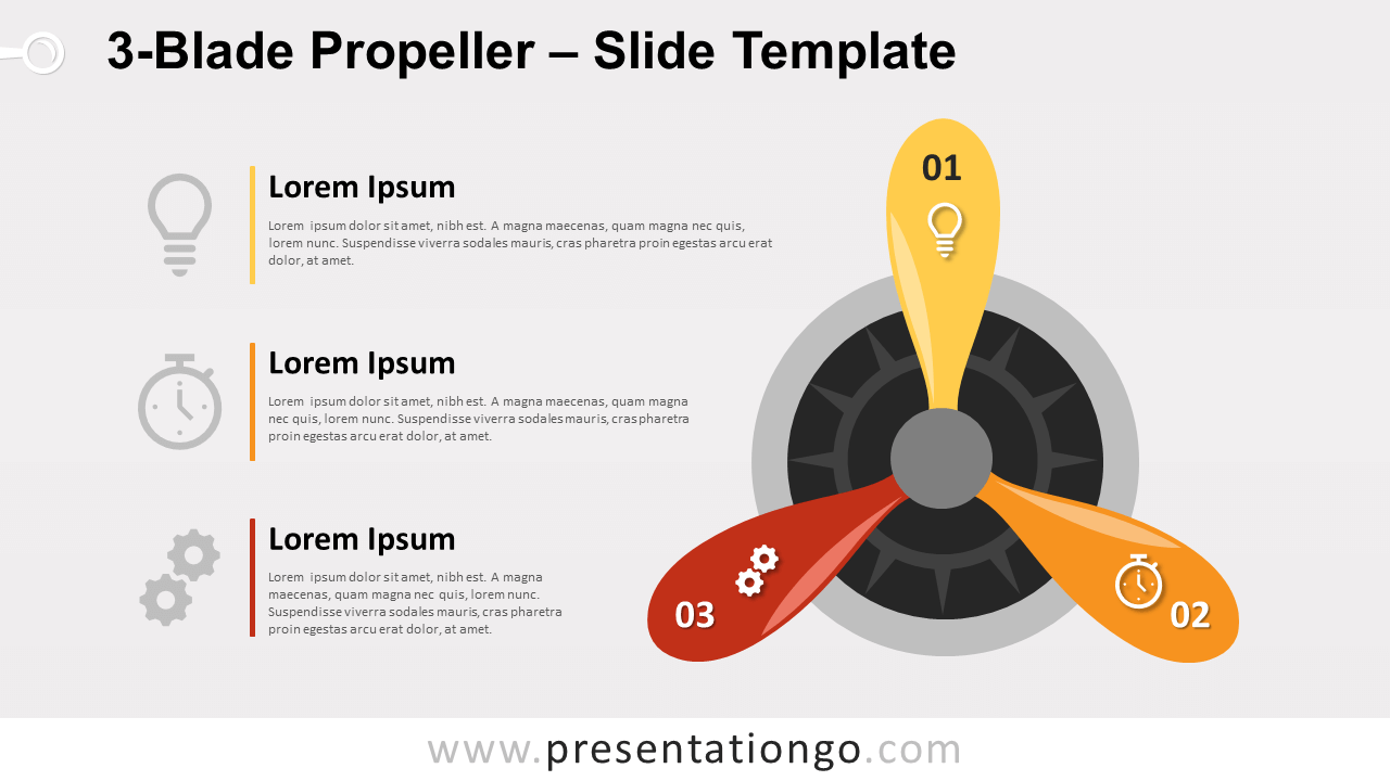 Free 3-Blade Propeller for PowerPoint and Google Slides
