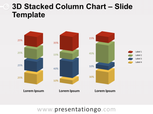Free 3D Stacked Column Chart for PowerPoint