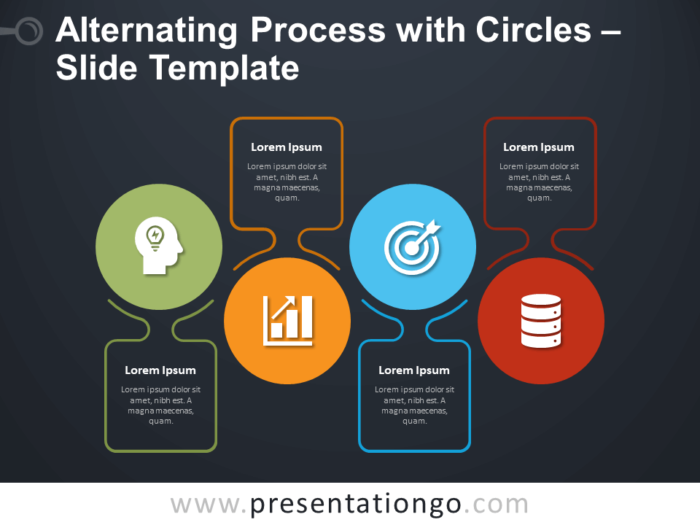 Free Alternating Process with Circles Infographic for PowerPoint