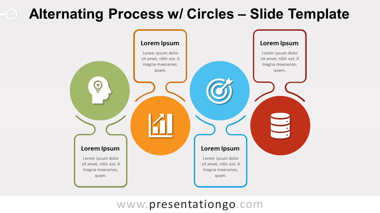 Free Alternating Process with Circles for PowerPoint and Google Slides
