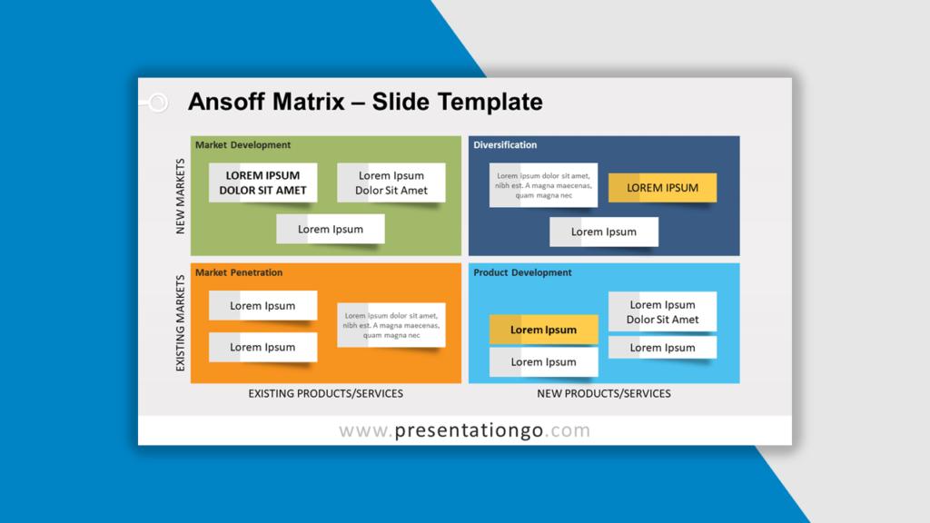 Best Matrix Charts - Ansoff Matrix Template for PowerPoint and Google Slides