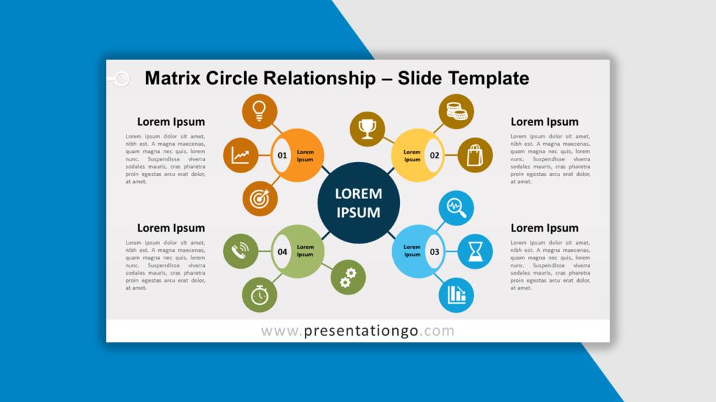 Best Matrix Charts - Matrix Circle Relationship for PowerPoint and Google Slides