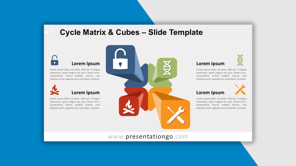 Best Matrix Charts - Cycle Matrix and Cubes for PowerPoint and Google Slides