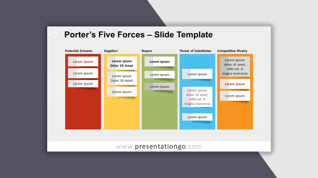 Porter's Five Forces for PowerPoint - Best Business Model