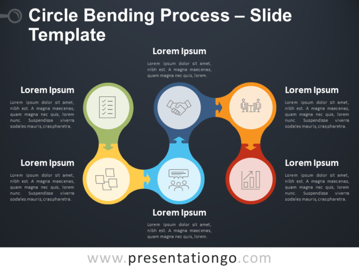 Free Circle Bending Process Diagram for PowerPoint