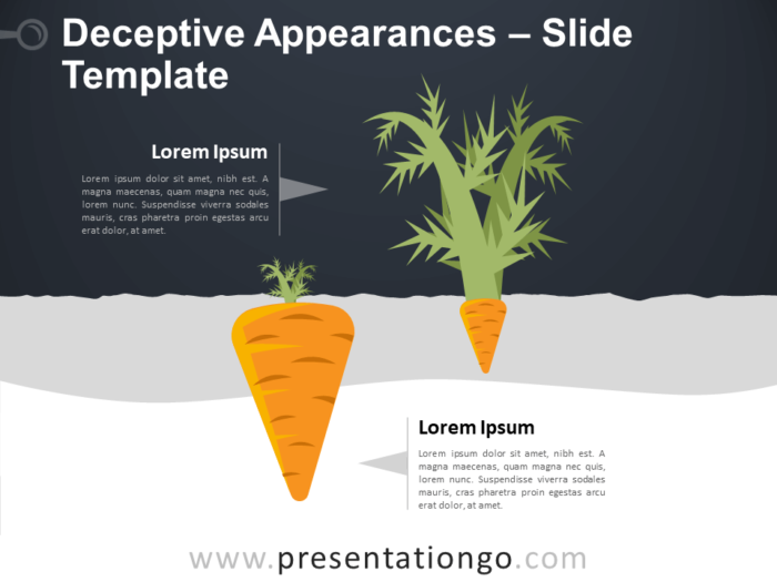 Free Deceptive Appearances Infographic for PowerPoint