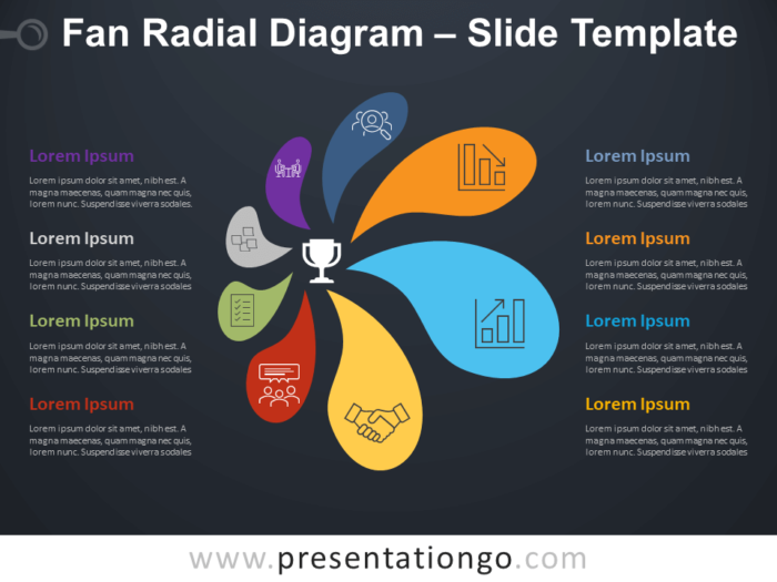 Free Fan Radial Diagram Infographic for PowerPoint