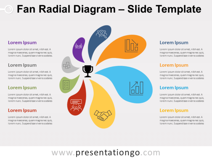 Free Fan Radial Diagram for PowerPoint