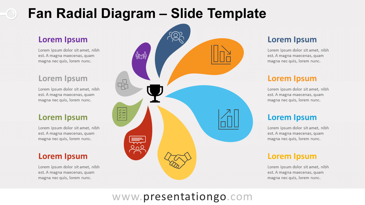 Free Fan Radial Diagram for PowerPoint and Google Slides