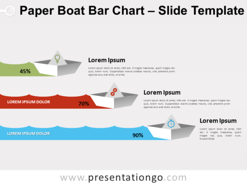 Free Paper Boat Bar Chart for PowerPoint