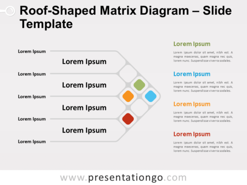 Free Roof-Shaped Matrix Diagram for PowerPoint