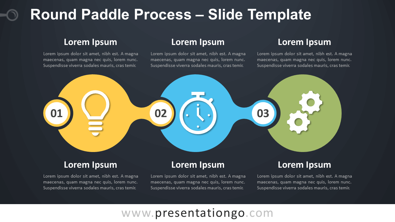 Free Round Paddle Process Diagram for PowerPoint Google Slides