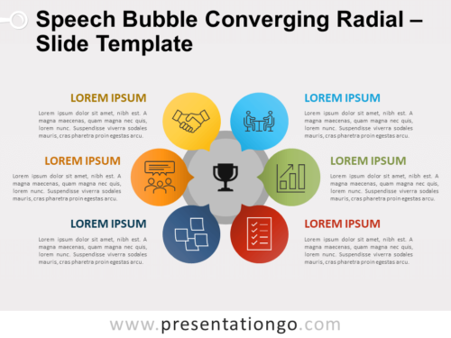 Free Speech Bubble Converging Radial for PowerPoint