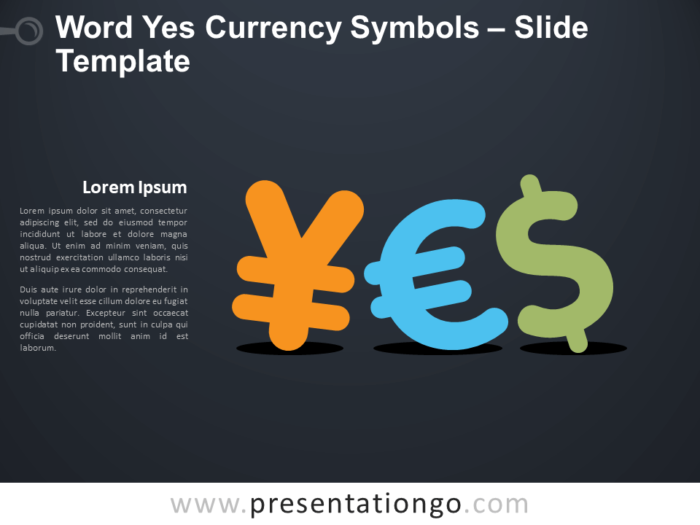 Free Word Yes Currency Symbols Infographic for PowerPoint
