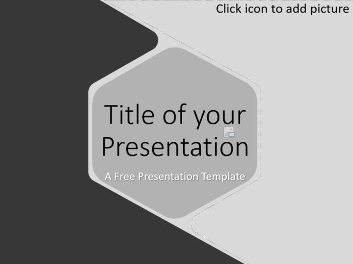 Free Hexagon Template for Google Slides - Cover Slide