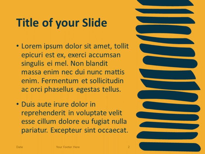 Free Scribble Lines Template for PowerPoint – Title and Content Slide (Variant 1)