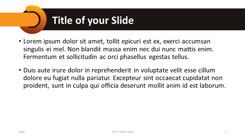 Free Chrono Template for Google Slides – Title and Content Slide (Variant 1)