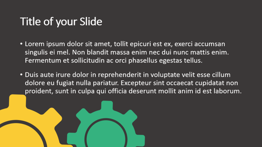 Free Gears Template for Google Slides – Title and Content Slide (Variant 2)